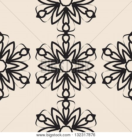 Stylized flower Seamless elegant Ornamental stylized flower pattern for your design wallpapers.