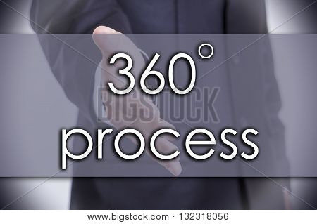 360 Degree Process - Business Concept With Text