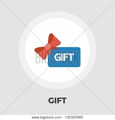 Gift card icon vector. Flat icon isolated on the white background. Editable EPS file. Vector illustration.