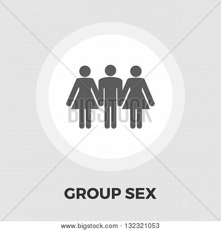 Group sex icon vector. Flat icon isolated on the white background. Editable EPS file. Vector illustration.