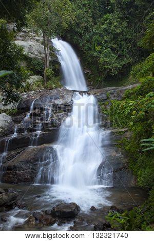 Huai Sai Lueang Waterfall Doi Inthanon National Park Chom Thong Chiang Mai Thailand.