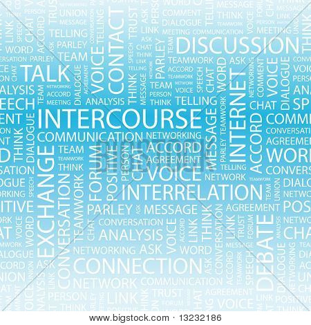 INTERCOURSE. Word collage. Vector illustration.