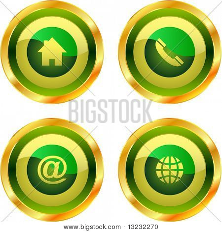 Contact button set for design.