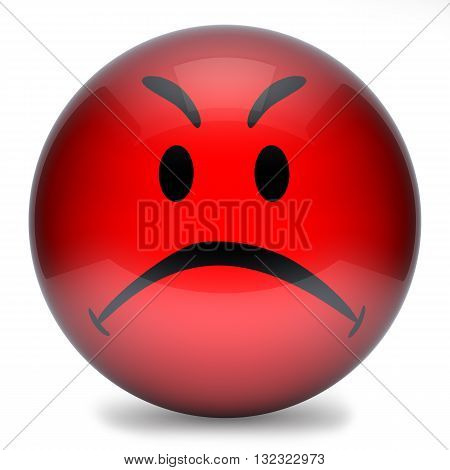 Smiley Red Angry 3D