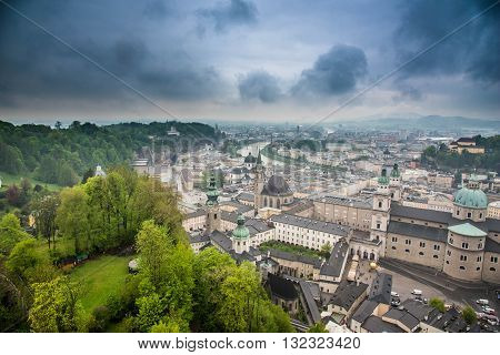 View of Salzburg from Hohensalzburg Fortress - Czech Republic