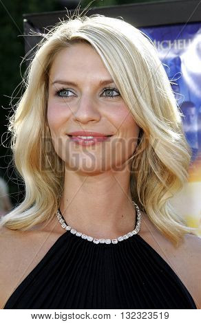 Claire Danes at the Los Angeles premiere of 'Stardust' held at the Paramount Pictures Studios in Hollywood, USA on July 29, 2007.