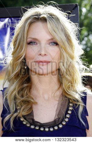 Michelle Pfeiffer at the Los Angeles premiere of 'Stardust' held at the Paramount Pictures Studios in Hollywood, USA on July 29, 2007.