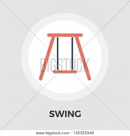Swing icon vector. Flat icon isolated on the white background. Editable EPS file. Vector illustration.