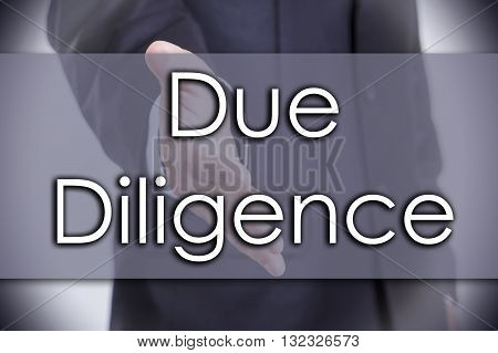 Due Diligence - Business Concept With Text