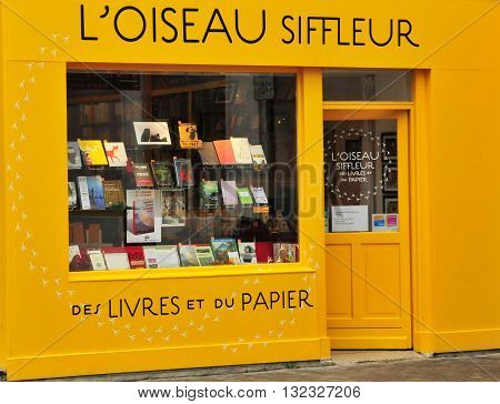 Valence France - april 13 2016 : a book shop