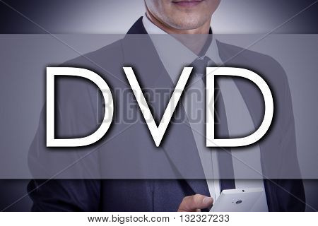 Dvd - Young Businessman With Text - Business Concept