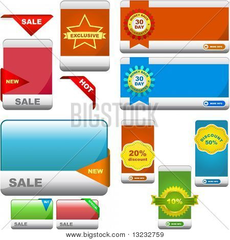 Vector great collection of sale banner.