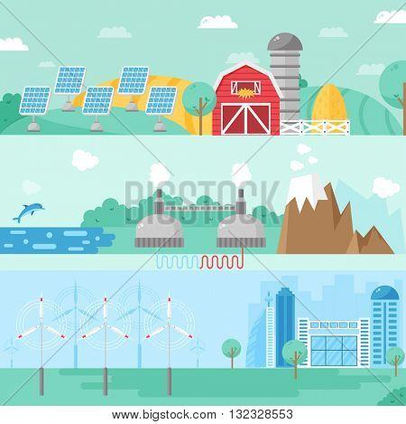 Alternative energy vector illustration.