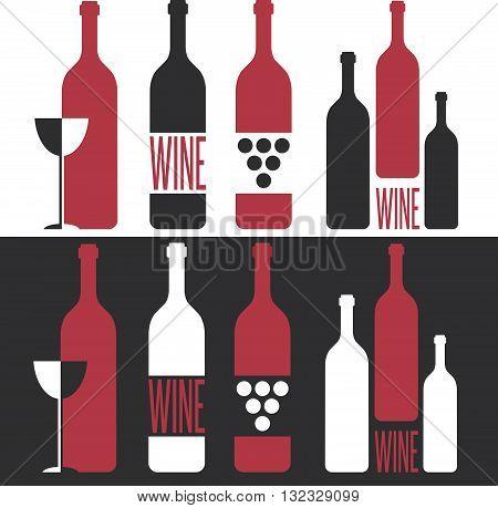 Set Of Vector Illustrations On Wine Theme
