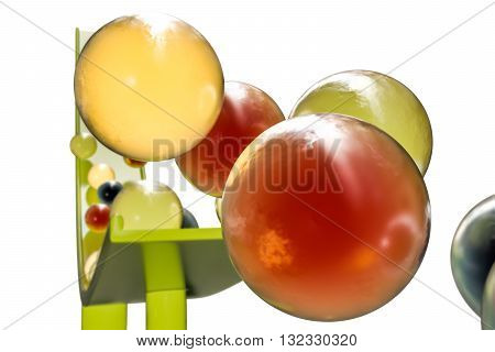 3d illustration of sweet gumballs isolated on white background