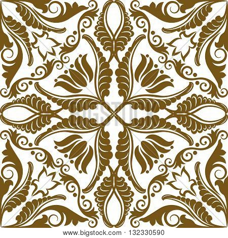 silhouette of pattern seamless with ornaments - vector illustration