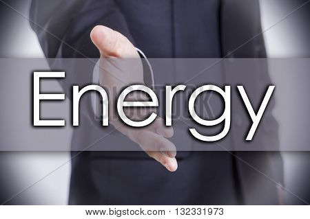Energy - Business Concept With Text
