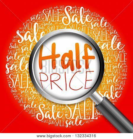 Half Price Sale Word Cloud