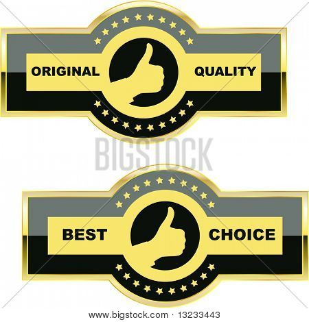 Set of quality guaranteed label