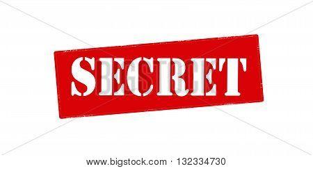 Rubber stamp with word secret inside vector illustration
