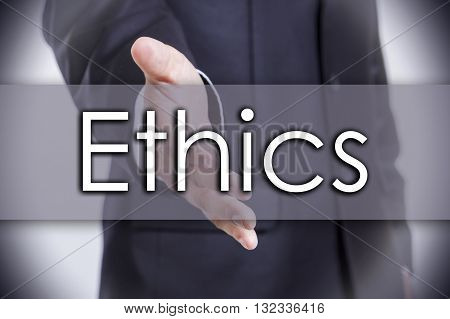Ethics - Business Concept With Text