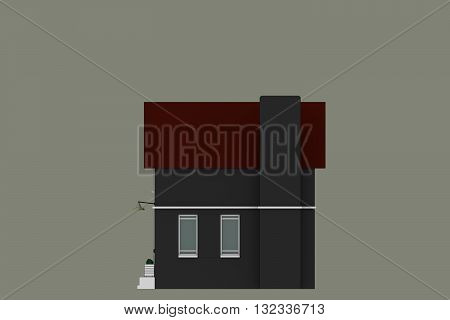 3d illustration of a simple sketched house