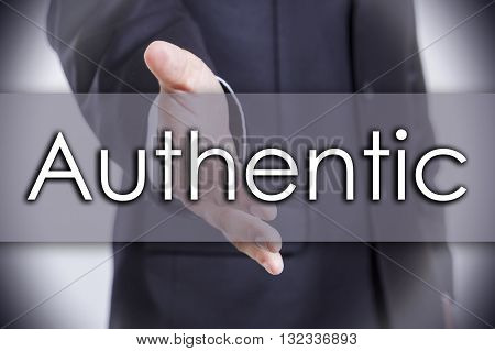 Authentic Authentic - Business Concept With Text