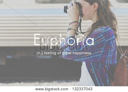 Euphoria Feeling Great Pleasure Happiness Concept
