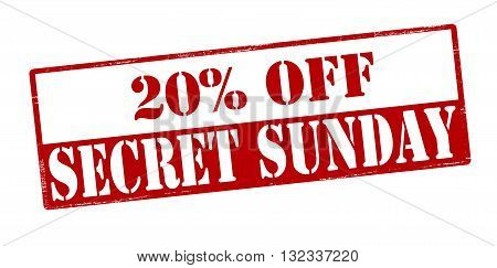 Rubber stamp with text secret Sunday inside vector illustration