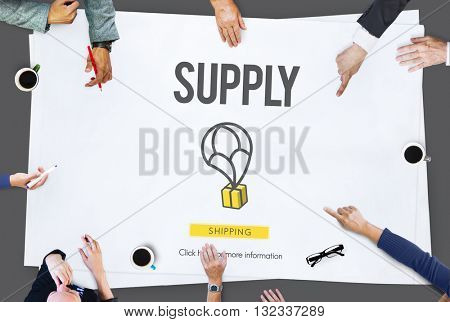 Supply Logistic Networking Distribution Stock Concept