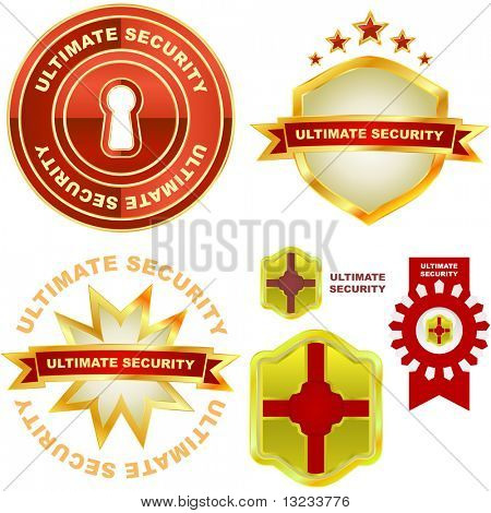 Ultimate security. Vector collection.