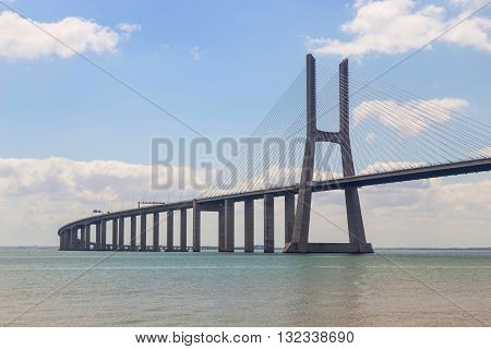 Bridge The Vasco Da Gama On River Tejo