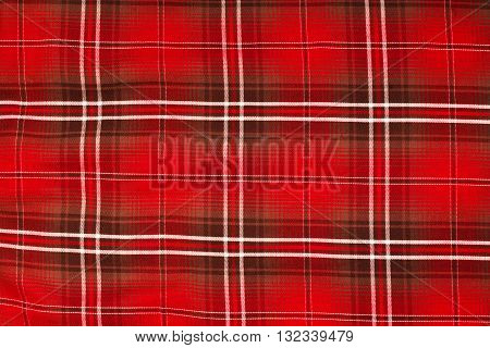 Closed up Texture of tablecloth gingham pattern in red white and navy blue checked pattern
