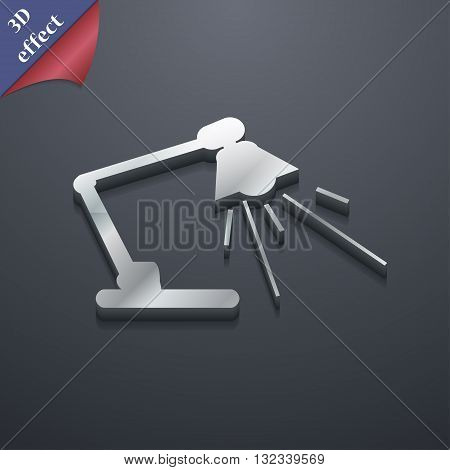Reading-lamp Icon Symbol. 3D Style. Trendy, Modern Design With Space For Your Text Vector