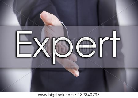Expert - Business Concept With Text