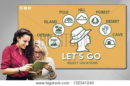 Let's Go Adventure Travel Journey Experience Concept