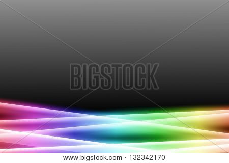 rainbow color bar on dark gray color abstract background. rainbow aura abstract background.