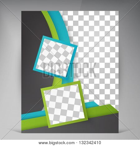 Abstract vector modern flyers brochure. Business brochure flyer design layout template in A4 squares