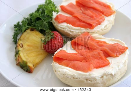 Bagel & Lox Closeup