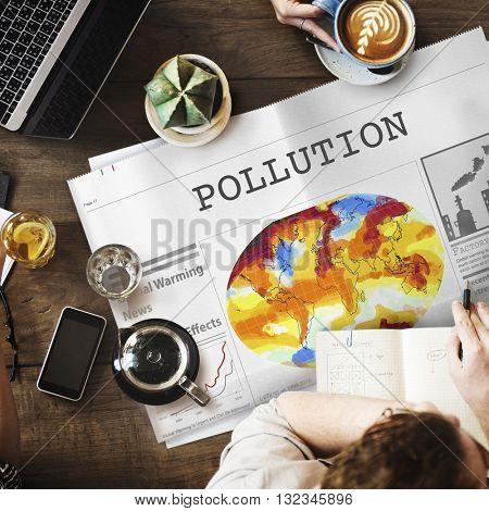 Pollution Dirty Chemical Problem Smog Smoke Concept