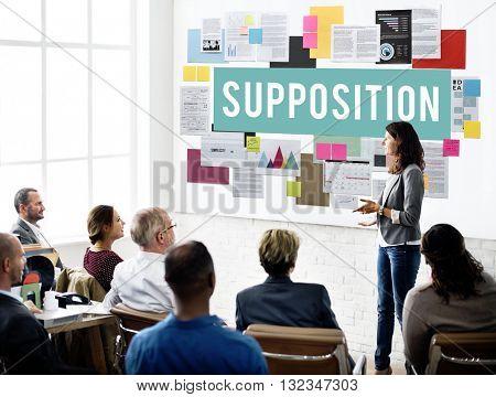 Supposition Prediction Logic Ideas Concept