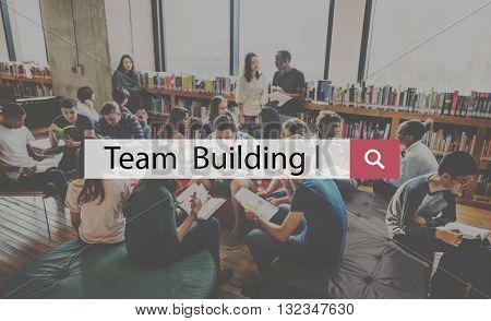 Team Building Accomplishment Business Culture Concept