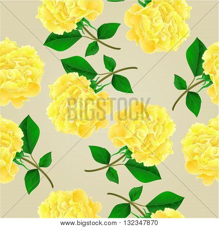 Seamless texture twig tea rose stem with leaves vector illustration