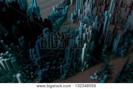 Abstract Macro City