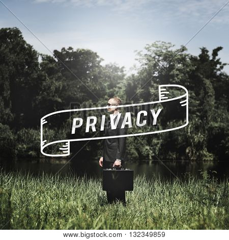 Privacy Classified Closed Confidential Identity Concept