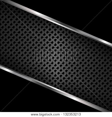 Black metal backgrounds, Metal grill background, Abstract vector illustration