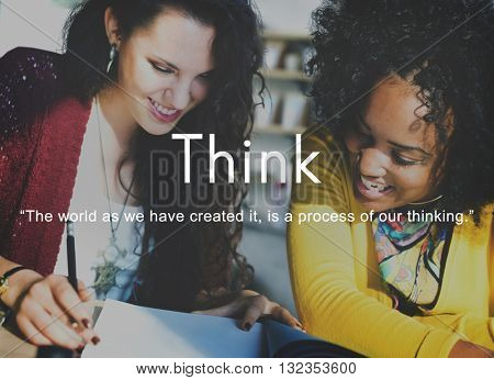 Think Ideas Creativity Strategy Visionary Planning Thinking Concept