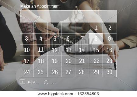 Calendar Appointment Schedule Memo Organize Concept