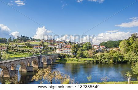 View Over Ponte Da Barca And The Medieval Bridge