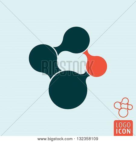 Molecule icon. Molecular structure minimal design. Vector illustration